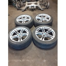 "4 X GENUINE 18"" BMW 1 SERIES ALLOY WHEEL SET COMPLETE WITH TYRES 261M 7891051"